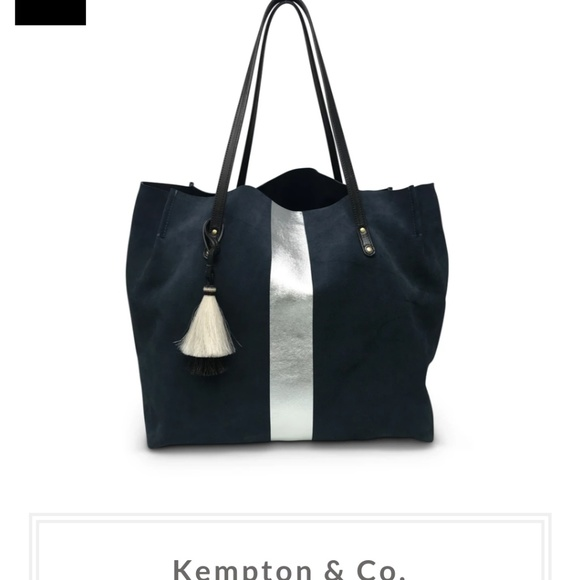 Kempton & Co. Handbags - Kempton & Co. Navy Suede Dorset Tote